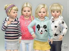 The Sims Resource: Hoodie for Toddler Girls P03 by lillka • Sims 4 Downloads