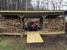 Build a Shed on a Weekend - Firewood Lawn Equipment storage Build a Shed on a Weekend - Our plans include complete step-by-step details. If you are a first time builder trying to figure out how to build a shed, you are in the right place! Outdoor Firewood Rack, Firewood Shed, Firewood Storage, Shed Storage, Storage Ideas, Wood Shed Plans, Wood Store, Lawn Equipment, Building A Shed