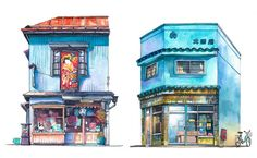 Illustrated Tokyo Storefronts by Mateusz Urbanowicz | Spoon & Tamago