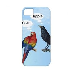 Goth Hippie Funny iphone 5 cases from Zazzle.com ($44) via Polyvore