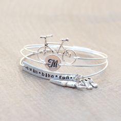 Swim Bike Run Triathlon Jewelry Set of 3 wired by shopgetlucky
