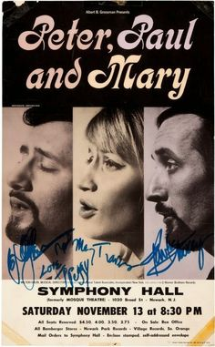 That was yesterday: PETER PAUL & MARY TIP 1965  - (Concert)