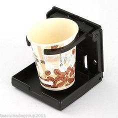 New Black Adjustable Euro Design Folding Car Auto Beverage Drink Can Cup Holder | eBay