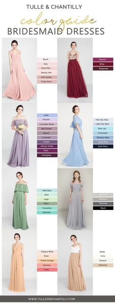 6ec9e4fa938 1916 Best Tulle   Chantilly Bridesmaid Dresses images in 2019