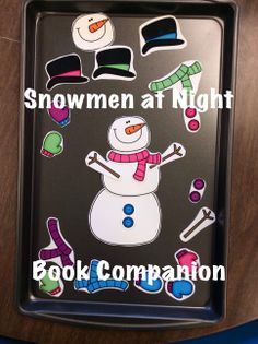 Snowmen at Night: One of 21 Snowman and Winter themed speech therapy activities designed to be used after reading the story, Snowmen at Night by Caralyn Buehner. Activities for language and articulation, plus the adorable Build a Snowman Game. From Speech Sprouts #speechtherapy