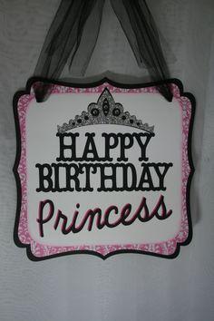 Birthday Princess Party Sign Happy Birthday Princess