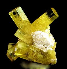 Beryl (Var: Heliodor) - from Zelatoya Vada Mine, Rangkul, Tien Shan Mts, Region of Republican Subordination, Tajikistan - Photo Copyright © Matthew Potts Minerals And Gemstones, Rocks And Minerals, The Magic Faraway Tree, Mineral Stone, Rocks And Gems, Mellow Yellow, Stones And Crystals, Gem Stones, Lapis Lazuli