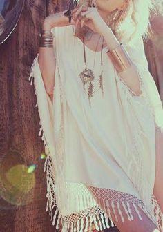 Boho chic fashion, modern hippie trend, For MORE Bohemian summer looks FOLLOW http://www.pinterest.com/happygolicky/the-best-boho-chic-fashion-bohemian-jewelry-gypsy-/