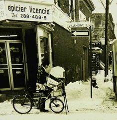 1976 épicerie de coin Villeneuve et DeBullion Phil DuBerger copie Still Standing, Old Pictures, Storytelling, Industrial, Canada, America, Black And White, History, Photos