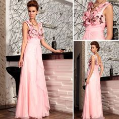 pink flowers fairy a-line evening dress with sequins decorated bodice and v-neck A Line Evening Dress, Evening Dresses, Prom Dresses, Formal Dresses, Crystal Dress, Embroidery Dress, Wedding Party Dresses, Flower Dresses, Cheap Dresses