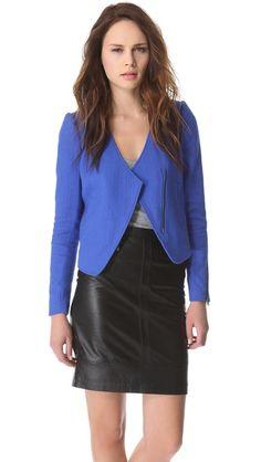 I kind of love this jacket... Tibi Basket Weave Jacket