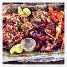 filipino food:  #Filipino #bangus #sisig #inihaw #pusit #halabos #hipon #sarap #dahon ng saging
