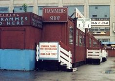 The old club shop at the Boleyn Ground. Football Images, Football Pictures, West Ham United Fc, East End London, London History, Stadium Tour, Football Stadiums, Classic Image, The Good Old Days