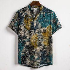 Henley Shirts, Loose Shirts, Mens Printed Shirts, Half Shirts, Casual Shirts For Men, Men Casual, Tribal Shirt, Comfy Casual, Men's Fashion