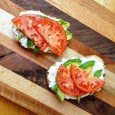 Tomato + avocado + cottage cheese + toast. You can't go wrong. Get the recipe here.