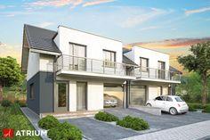 Projekt Double House - elewacja domu