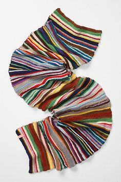 """One-Of-A-Kind Striped Scarf #anthropologie 13"""" x 84"""" looks like all garter...great for scraps"""