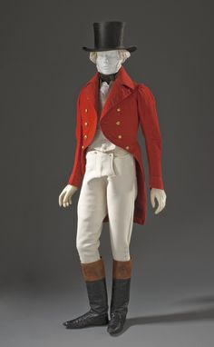 1825-1830, Scotland - Man's Hunting Jacket - Wool plain weave, full finish