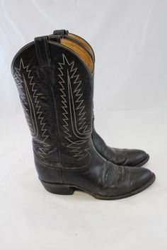 I love low-heeled cowboy boots and I need a new pair, I wore my last ones out.  Black Cowboy Boots for Women.
