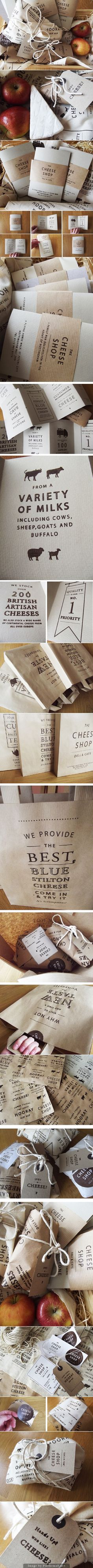 The Cheese Shop branded collateral by Charlotte Estelle Littlehale
