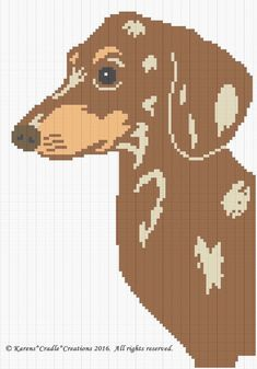 Crochet Patterns - DACHSHUND- BROWN DAPPLE dog Graph Afghan Pattern Chart FOR SALE • $6.00 • See Photos! Money Back Guarantee. BROWN DAPPLE DACHSHUND Afghan Pattern Original graph pattern artwork © Karens*Cradle*Creations, 2016. All rights reserved. Up for auction is a GRAPH PATTERN that I created. This graph pattern will make 361642431812