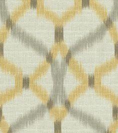 Home Decor Print Fabric-Waverly Izmir Ikat/Pumice Rooms Home Decor, Home Decor Fabric, Living Room Decor, Dining Room, Ikat Fabric, Chair Fabric, Pillow Fabric, Curtain Fabric, Fabric Art