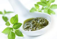 Pesto - two recipes one with basil and one with rocket.