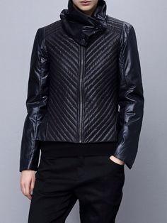#AdoreWe odbo Black Statement Polyester Paneled Cropped Jacket - AdoreWe.com