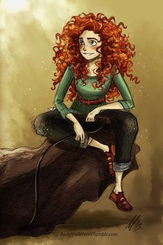 Anime art to draw Merida Arte Disney, Disney Fan Art, Disney Style, Disney Love, Disney Magic, Disney Girls, Merida Disney, Brave Merida, Disney And Dreamworks