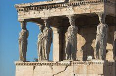 Loggia delle cariatidi. Atene.