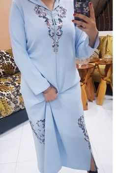 Caftan Dress, Hijab Dress, Morrocan Fashion, African Fashion Dresses, Fashion Outfits, Abaya Mode, Embroidery Suits Design, Moroccan Caftan, Abaya Fashion
