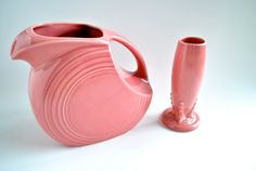 Items similar to Fiesta Water Pitcher - Mint Condition, Retired Rose (Bubble Gum Pink) Colour on Etsy