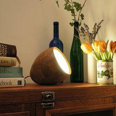 Oak Spotty Lamp