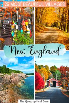 Fancy a road trip or a scenic fall foliage drive through New England? Or looking for the best places to visit in New England? Here's my travel guide to 25 of the most beautiful towns in New England that make excellent East Coast road trip stops. There are so many things to do and see in these quaint New England villages, for both art and nature lovers. New England Vacation | Where To Find Fall Foliage | Where To Go In New England | What To Do In New England | US Road Trips | Boston Day Trips East Coast Road Trip, Us Road Trip, Usa Travel, Travel Info, Travel Guides, Travel Tips, Day Trips From Boston, Amazing Destinations, Travel Destinations