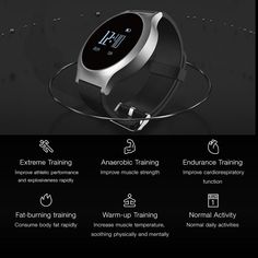 Form and function combine to create this classy, stylish smart watch. Besides its stunning looks, it has a variety of features including Heart rate monitoring, Pedometer, Capability to answer calls - its like having your own assistant on your wrist! Features: Stylish Appearance: 0.96 inch OLED display screen, clearly s Endurance Training, Physically And Mentally, Smart Bracelet, Display Screen, Heart Rate, Cool Toys, Smart Watch, Classy, Watches