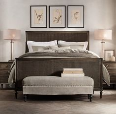 Bedroom Sets Restoration Hardware vienne upholstered bed collection - burnt oak | rh | prospect