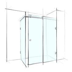 Wet Design Slider series shower screens represent the latest evolution in frameless shower enclosures. #wetdesign #bathroom