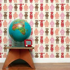 such cute wall paper for a little boys room- @Matt Stout