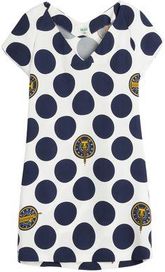 Kenzo Dots & Logo Crepe Dress