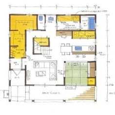 western06-2 Craftsman Floor Plans, Courtyard House, Japanese House, House Plans, Layout, How To Plan, Mansions, Architecture, Building