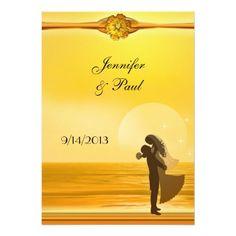 Romantic Beach Post Wedding Party Invitation