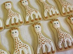 Giraffe Cookies, African Animals, Safari or Zoo Theme Birthday Party Favors, Jungle Party, Custom Decorated Sugar Cookies by MartaIngros on Etsy https://www.etsy.com/listing/481644916/giraffe-cookies-african-animals-safari