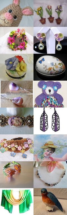 I AM IN LOVE WITH THIS BUNNY AND SPRING! by Libbey on Etsy--Pinned with TreasuryPin.com