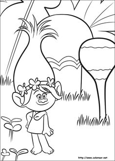Coloring Page Trolls Bridget On Kids N Funcouk Fun You