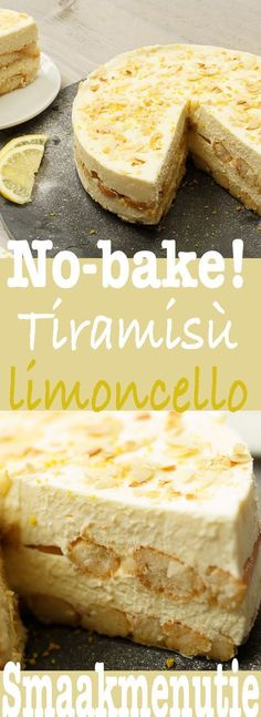 Tiramisu limoncello – Desserts and pies recipe Taste Menu … – Sweet Varieties Lemon Recipes, Sweet Recipes, Baking Recipes, Cake Recipes, Dessert Recipes, Dutch Recipes, Delicious Desserts, Yummy Food, Pie Dessert