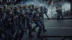 (© Rémy Soubanère) Riot Police, The Grim, Guerrilla, Skyscrapers, Paris, Book Series, Soldiers, Thriller, Photography