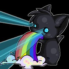 Rainbow Puke and Lazer Eyes by ~CyanideKissex on deviantART