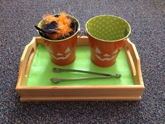 Halloween Montessori tonging work made by @reeeessa for our class!