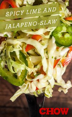 15 Coleslaw Recipes to Get You Through All of Your Summer BBQs including Spicy Lime and Jalapeño Slaw (Cabbage Recipes Coleslaw) Tangy Coleslaw Recipe, Jalapeno Coleslaw, Coleslaw Recipes, Salad Recipes, Soup Recipes, Cabbage Recipes, Veggie Recipes, Mexican Food Recipes, New Recipes