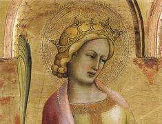 Lorenzo monaco, trittico dell'annunciazione dettaglio